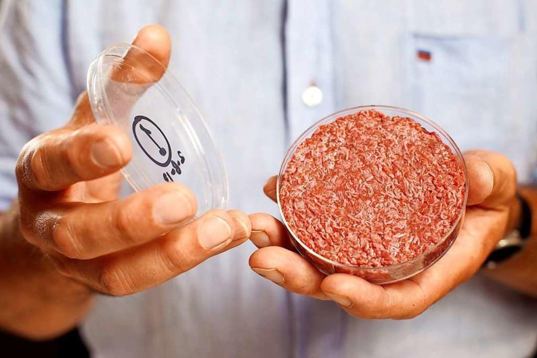 Aus Muskelzellen wächst im Labor Fleisch.     Foto: David Parry / Pa Wire Handout