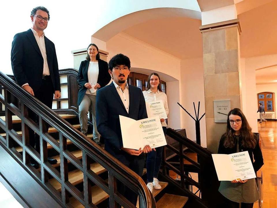Sidonie Hahlbrock, Adelheid Prinz und ... Regierungspräsidentin  Bärbel Schäfer  | Foto: Regierungspräsidium Freiburg