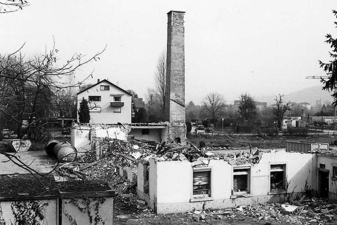Die Vitafabrik während des Abrisses  | Foto: Martin Schwendemann