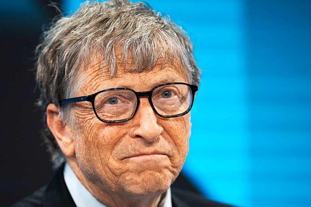 Der Schrecken aller  Schwurbler: Bill Gates.  | Foto: Gian Ehrenzeller (dpa)