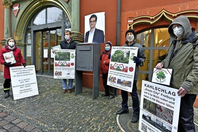 Proteste gegen Baumfällungen für Dietenbach