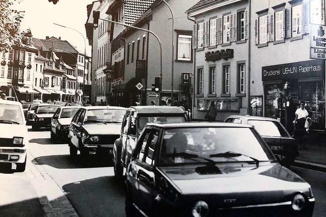 Als in Schopfheims Stadtmitte zwei Bundesstraßen aufeinander trafen
