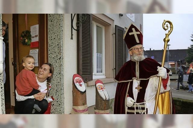 Der Nikolaus wird in Ettenheimweiler gesichtet