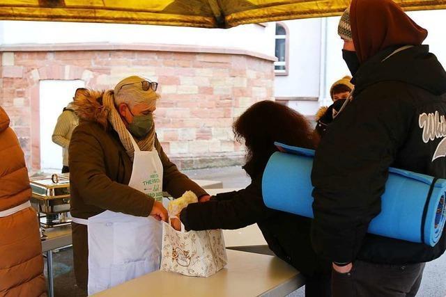 Das kostenlose Essen für Obdachlose gibt es dieses Jahr