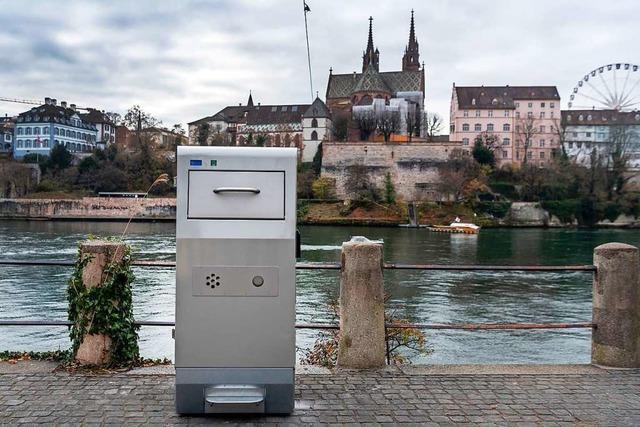 In Basel melden solarbetriebene Mülleimer, wenn sie voll sind
