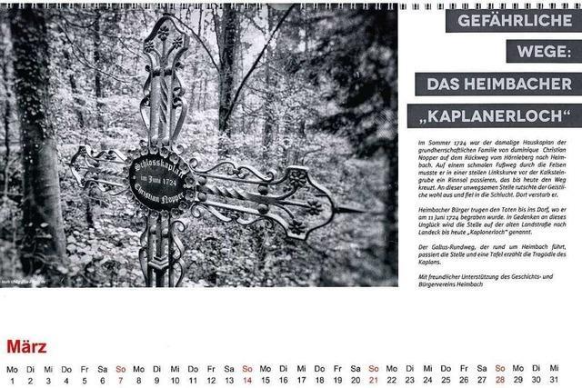 Teninger Kalender präsentiert Ortsgeschichten, die nur noch wenige kennen