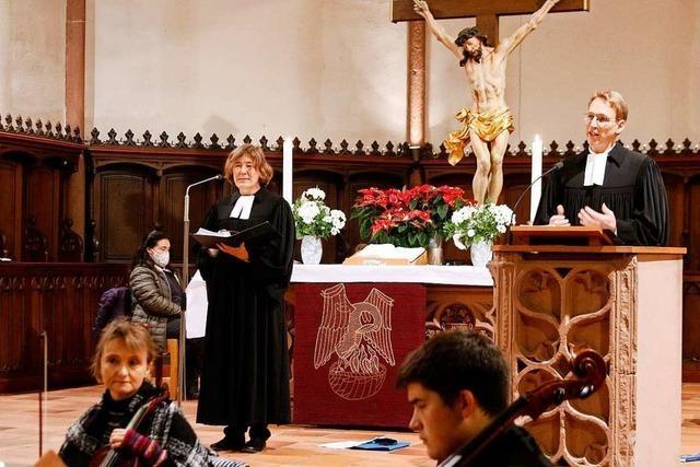 Pfarrerehepaar Bornkamm-Maaßen stellt sich in der Lahrer Stiftskirche vor