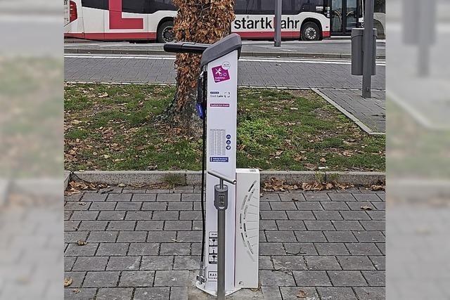 Neue Radservice-Station am Lahrer Bahnhof
