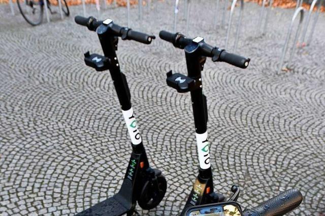 Die ersten Leih-Scooter sind nun in Freiburg unterwegs