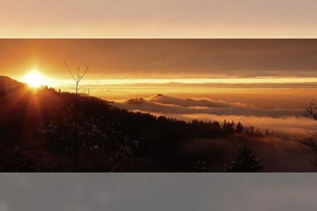 Beeindruckender Sonnenuntergang am Kandel