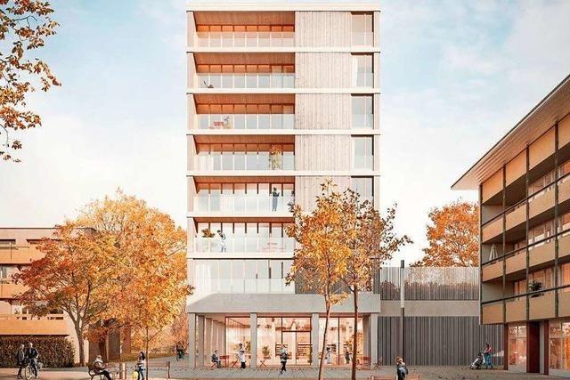 In Freiburg-Weingarten entsteht Deutschlands höchstes reines Holzhaus
