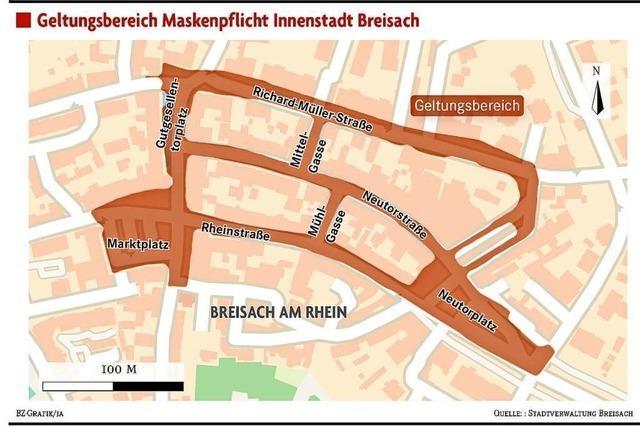 Maskenpflicht im Breisacher Stadtzentrum