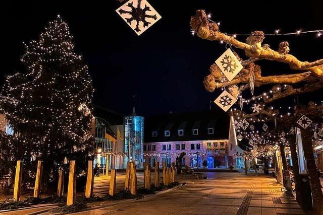 Das Markgräflerland ist derzeit weihnachtlich beleuchtet