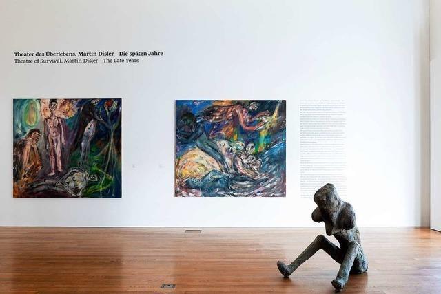 Der Schweizer Künstler Martin Disler im Kirchner-Museum in Davos