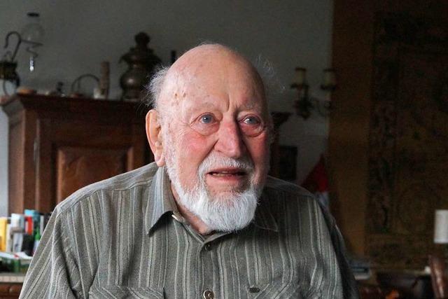 Wolfgang Nick aus Badenweiler ist mit 90 immer noch in Bewegung