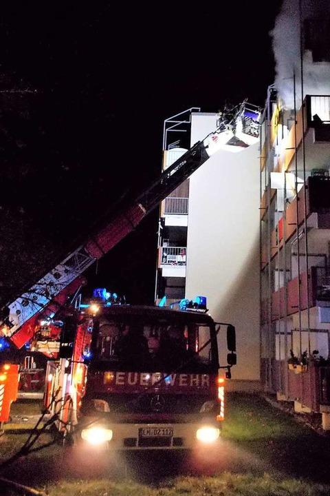 Die Feuerwehr konnte schlimmeres verhindern.  | Foto: Feuerwehr Denzlingen
