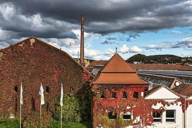 Industrieller Herbst bei der ehemaligen Lauffenmühle in Brombach