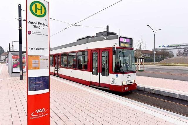 Die Freiburger Messetram nimmt am Sonntag ihren Betrieb auf