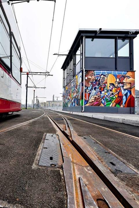 Graffito an den Gleisen  | Foto: Thomas Kunz