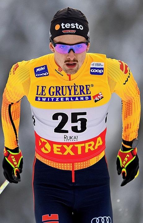 Der Lenzkircher Janosch Brugger will  in Davos  erste Weltcuppunkte sammeln.   | Foto: Carl Sandin (dpa)
