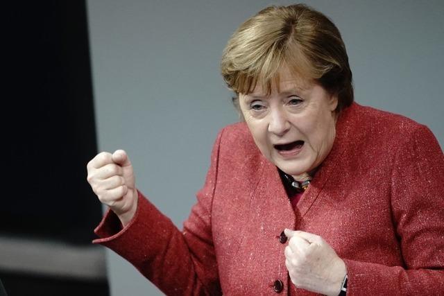 Merkel fordert härtere Maßnahmen: