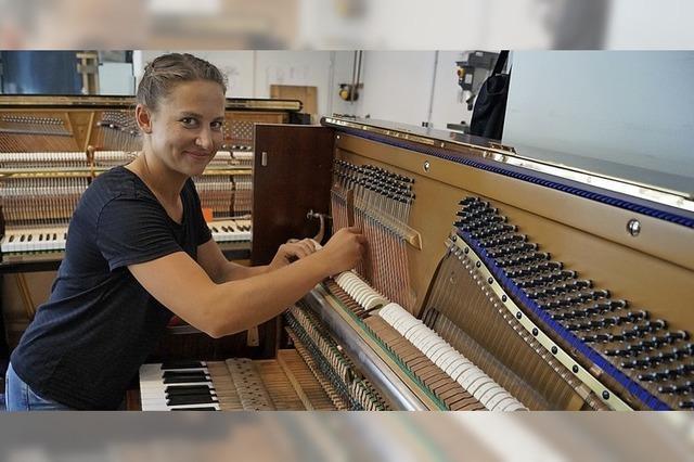 Klavierbauerin Johanna Frey holt den Bundessieg