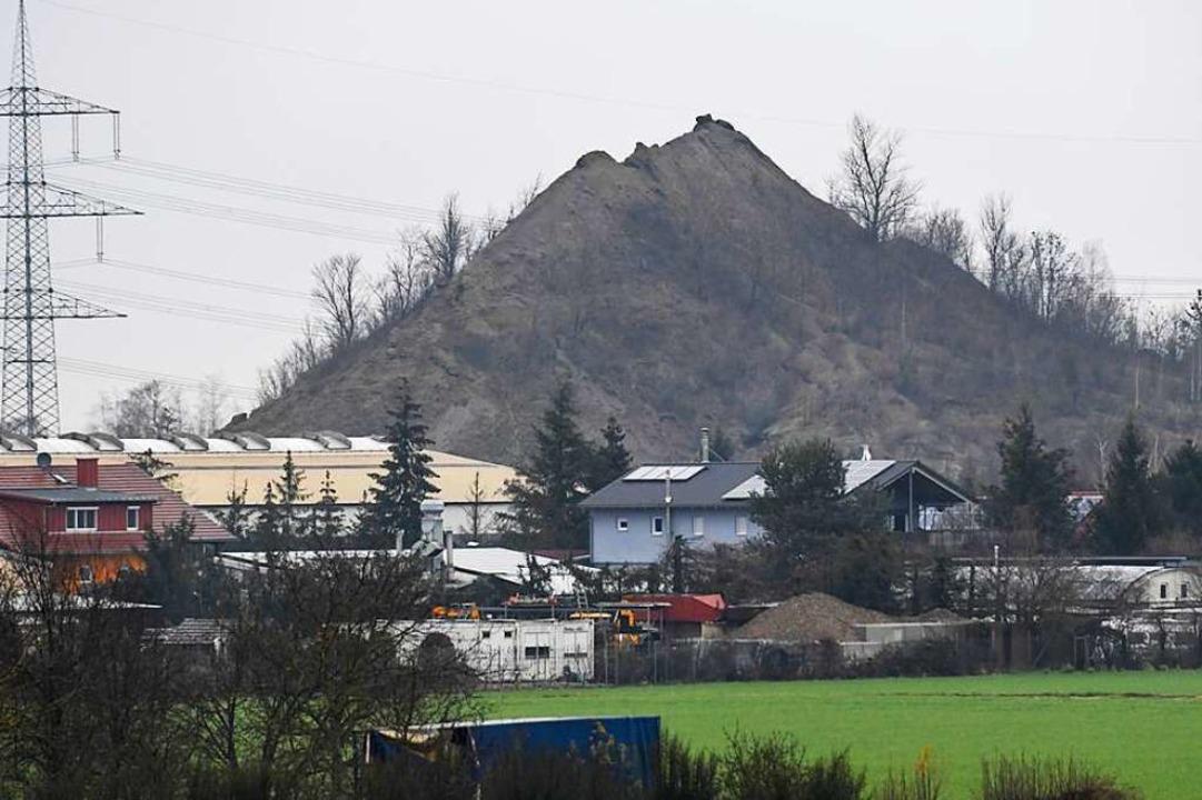 Die Kalihalde  in Buggingen ist das Üb...en Umweltschützer seit vielen Jahren.   | Foto: Volker Münch