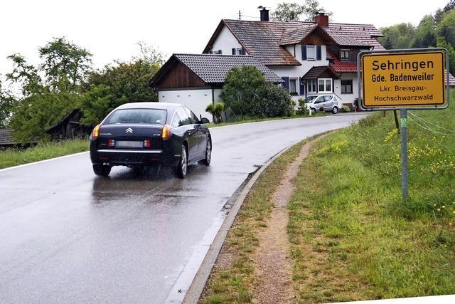 In Badenweiler-Sehringen soll innerorts das Tempo gedrosselt werden