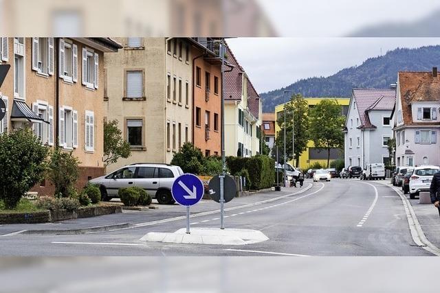 Radfahrstreifen stadtauswärts möglich
