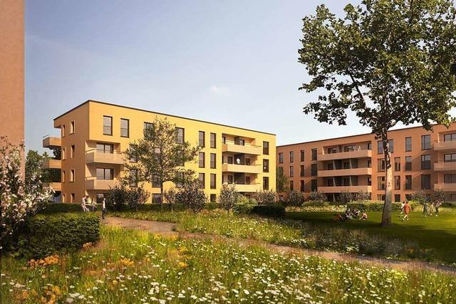 In Freiburg-Haslach entstehen 101 geförderte Wohnungen und Kita