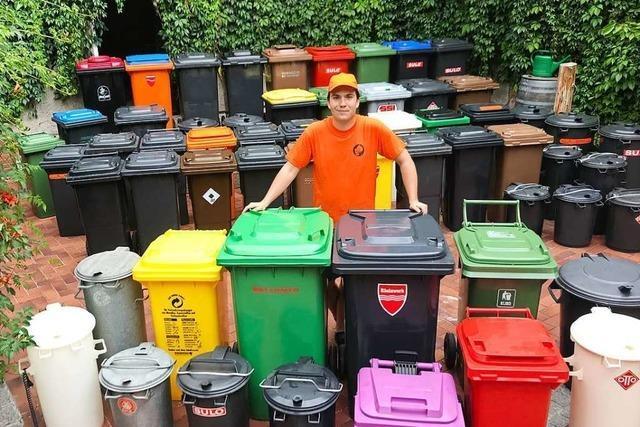 Ein Sammler sucht im Kreis Lörrach nach einer besonderen Mülltonne