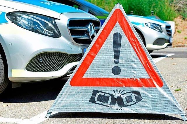 Verkehrsbehinderungen und Staus im Berufsverkehr vor Lörrach