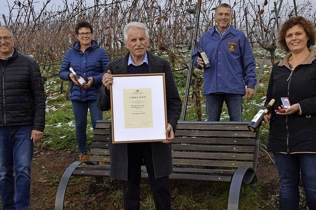 Ehrenpreis für Buchholzer Wein