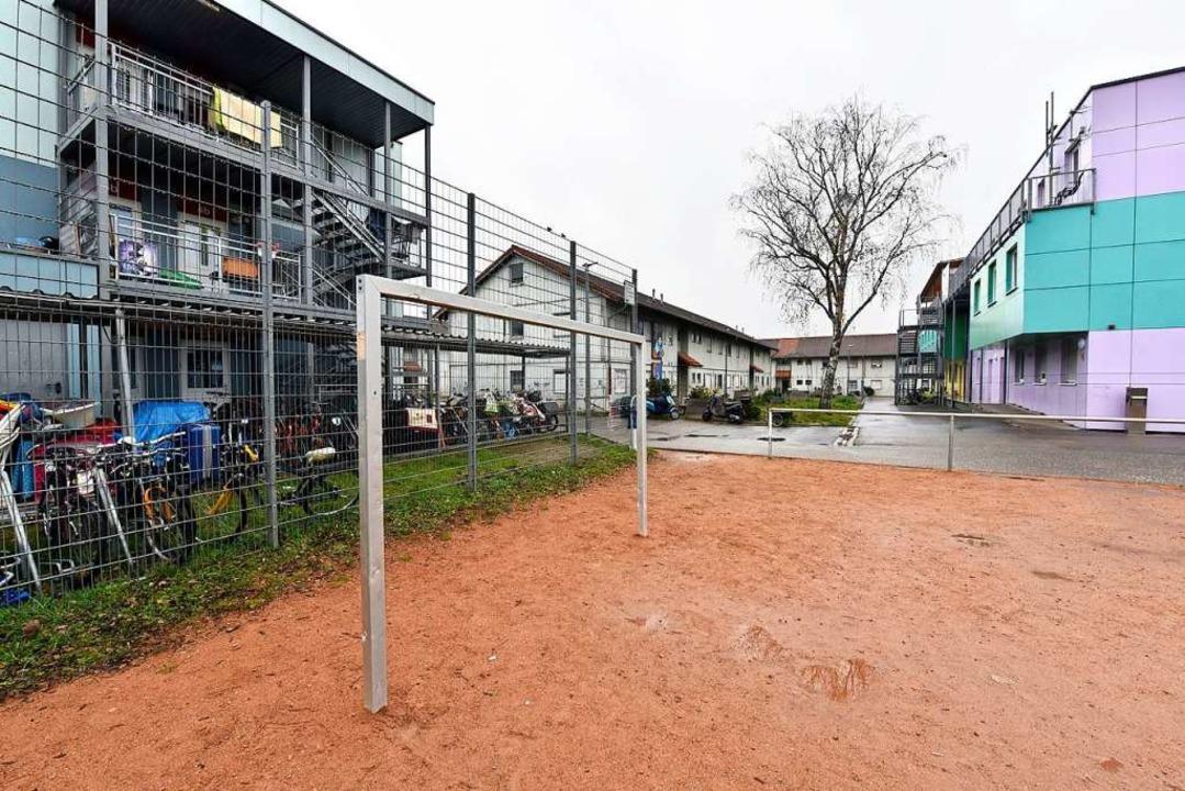 Ein möglicher Platz für die neue Eisha...lüchtlingswohnheim St. Christophe ist.    Foto: Thomas Kunz