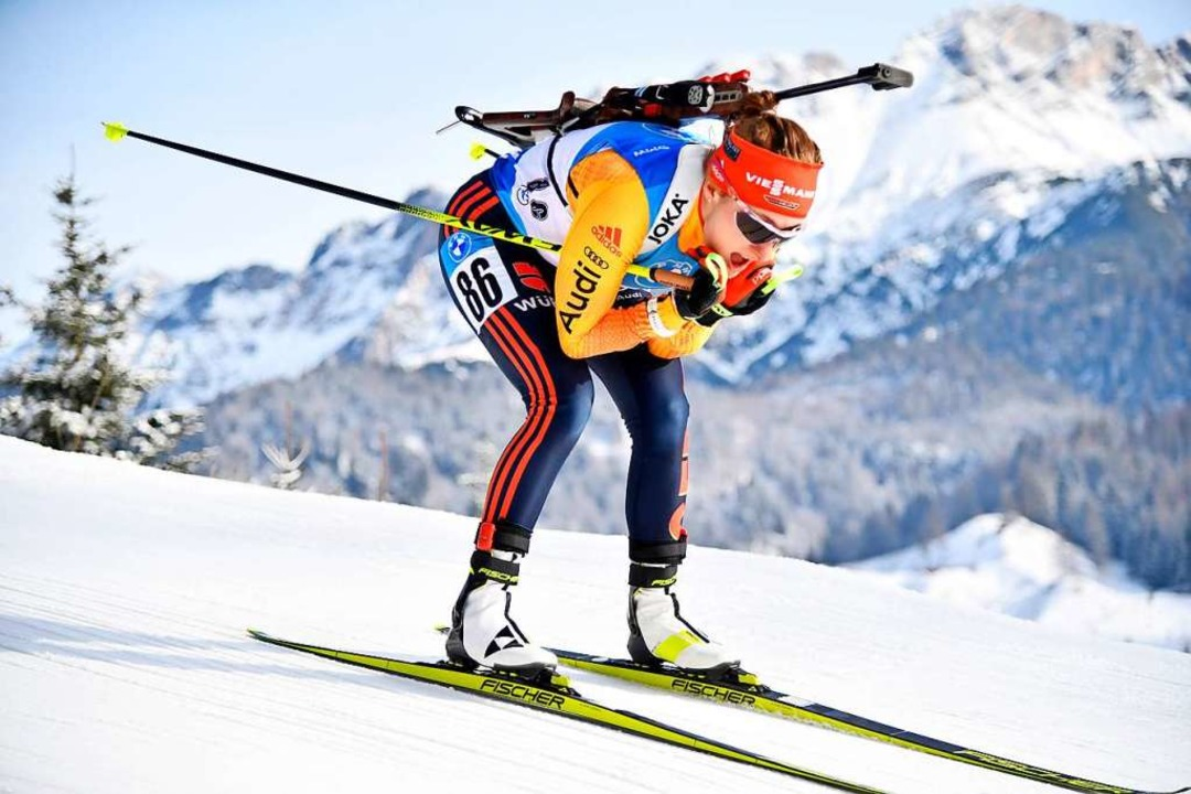 Bestes Weltcup-Resultat ihrer bisherig...füllt: Janina Hettich vom SC Schönwald    Foto: Barbara Gindl (dpa)