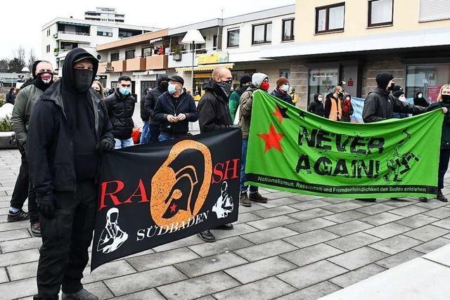 AfD und Antifa spielen in Lörrach und Weil am Rhein Katz und Maus