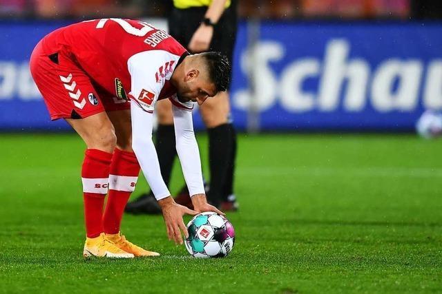 Freiburger Offensive braucht gegen Bielefeld einen Elfmeter, um in Führung zu gehen