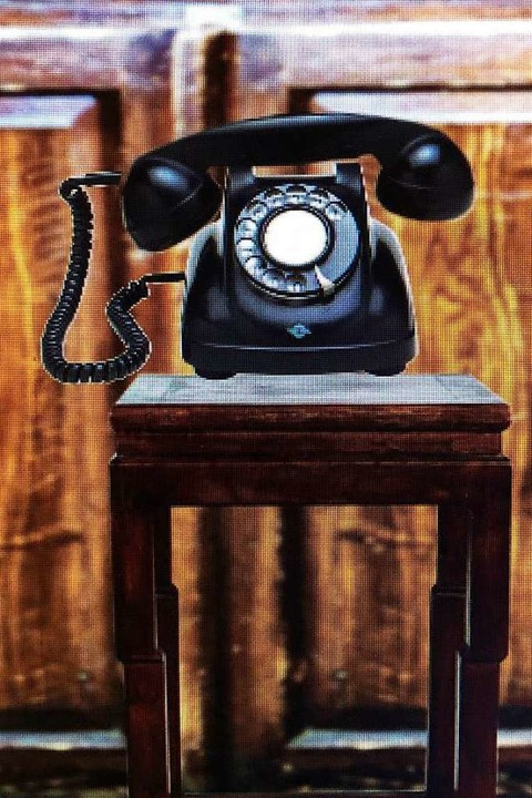 Geschafft: Das Telefon klingelt.    Foto: Ronja Vattes