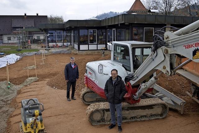 Baubeginn im Kindergarten