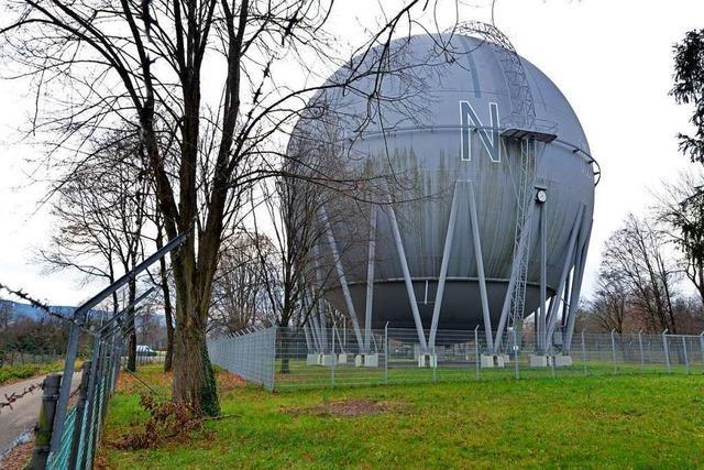 Die Freiburger Gaskugel bleibt erstmal ein Hingucker ohne Nutzwert