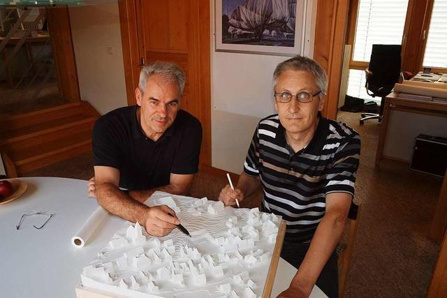 Walter Hess und Jürgen Volk leiten in Herbolzheim ein erfolgreiches Planungsbüro