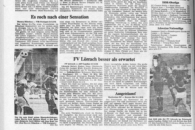 Als der FV Lörrach im DFB-Pokal spielte und mit der Jugend die Bayern forderte