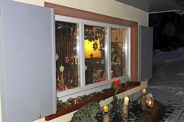 Adventsfenster im Kleinen Wiesental
