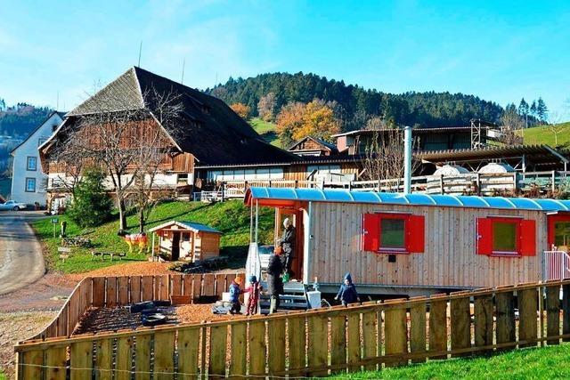 In Dietenbach im Dreisamtal eröffnet der erste Bauernhof-Kindergarten