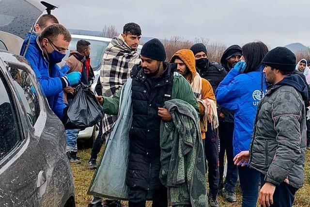 Tausende Migranten drohen im Norden Bosniens zu erfrieren