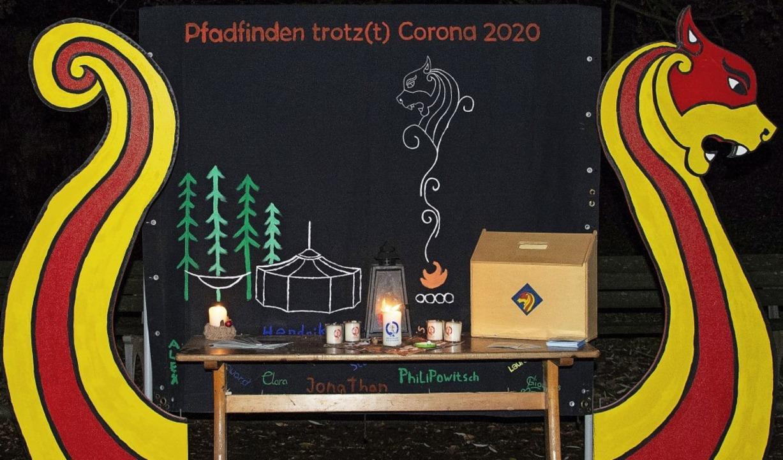 Auch im Corona-Jahr verteilten die Schopfheimer Pfadfinder das Friedenslicht.   | Foto: Paul Eischet