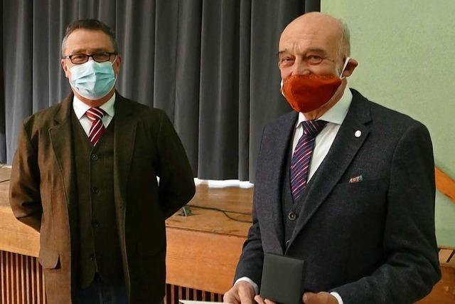 Staufermedaille für Gerhard Kienle, den Vater des Rettungskonzepts für den Katzenbergtunnel