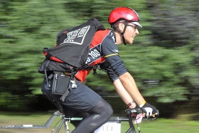 Freiburger Händler schicken Fahrradkuriere zu ihren Kunden