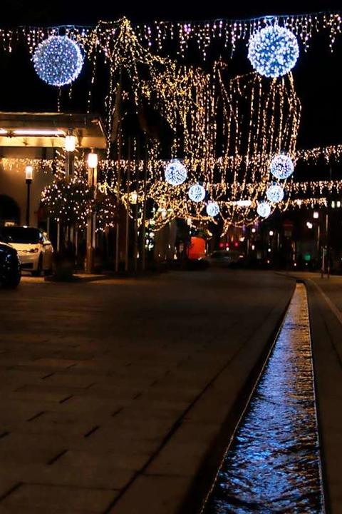 Der beleuchtete Rotteckring    Foto: Joshua Kocher