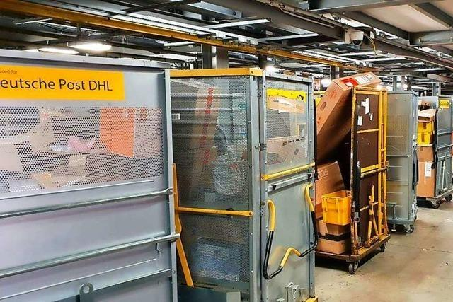 Kurz vor Heiligabend vermeldet DHL im Paketzentrum in Lahr Rekordzahlen
